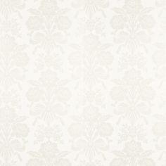 Tatton White Damask Wallpaper - Laura Ashley