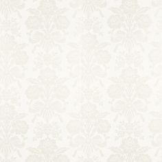 Tatton White Damask Wallpaper - Laura Ashley