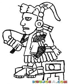 Dibujo Azteca Maya Para Colorear | COLOREAR MAYAS | Dibujo Azteca Maya Para Colorear | dibujosa.com