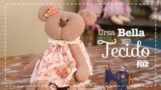 Ursa Bella - Boneca em Tecido (Vania Lima)