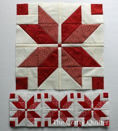 Nordic Stars, mini and large @ The Crafty Quilter