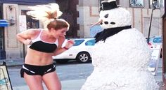 Hilarious Roadside Snowman #Prank Scares The Sh*t Out Of Everyone! Click the pic to watch! #omg