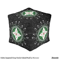 Celtic Inspired Crop Circle Cubed Pouf