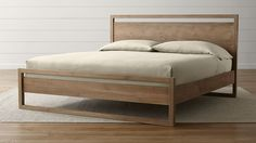 1499.00 Linea II King Bed | Crate and Barrel