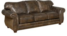 Shop for King Hickory Santana Leather Sofa, and other Living Room Sofas at North Carolina Furniture Mart in Bixby, OK. Rustic Living Room Furniture, Western Furniture, Country Furniture, Living Room Sofa, Leather Furniture, Leather Sofa, North Carolina Furniture, Colorado Homes, Colorado Springs
