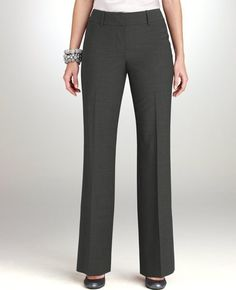 Ann Taylor Curvy Tropical Wool Trousers $89 #france #travel #pants #work aplyley