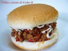 Les plats cuisinés de Esther B: Sloppy Joe