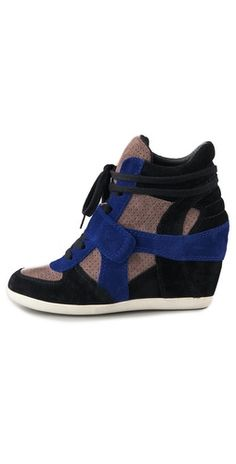 Ash Bowie Suede Wedge Sneakers | SHOPBOP