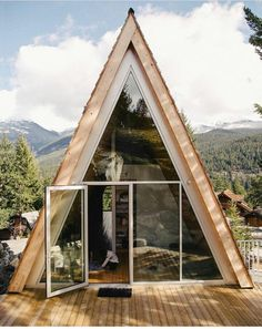Scott & Scott Architects design an outdoorsy Vancouver family's dream cabin Tiny House Movement // Tiny Living // Tiny House on Wheels // Cabin in the Woods // A frame cabin // Tiny Home // Architecture // Home Decor A Frame House Plans, A Frame Cabin, Cabin Design, House Design, Alpine Modern, Triangle House, Cabins In The Woods, Exterior Design, Future House