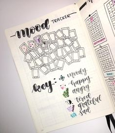 need a creative way to track habits and moods in your bullet journal? Well have a look at these amazing mood tracker ideas for bullet journal Bullet Journal Tracker, Bullet Journal Spreads, December Bullet Journal, Bullet Journal Notebook, Bullet Journal Inspo, Bullet Journal Layout, Filofax, Bullet Journal Calendrier, Bellet Journal