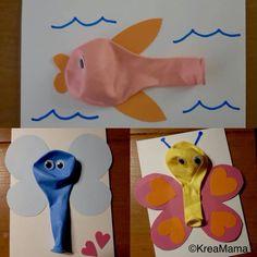 Creatief met ballonnen | ballonnen | knutselen | creatief | feest | De Knutseljuf Ede Ocean Kids Crafts, Crafts For Kids, Crafts For Children, Kids Arts And Crafts, Kid Crafts, Craft Kids