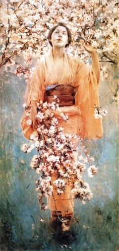 Robert Frederick Blum (1857 – 1903) : Cherry Blossoms, 1892. Private collection.