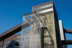 rAndom international build towering shower at ruhrtriennale