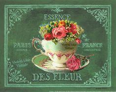 Violeta lilás Vintage: Essência de Flores para impressão