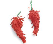 How fun!  Red chili pepper craft.