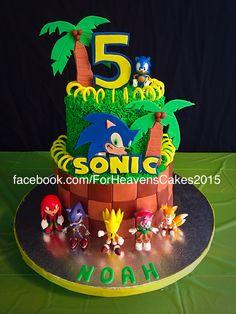 Amazing Photo of Sonic Birthday Cakes . Sonic Birthday Cakes Sonic The Hedgehog Cake Sonic Party Pinte Sonic Birthday Cake, Sonic Birthday Parties, 5th Birthday Party Ideas, Birthday Cakes, 8th Birthday, Bolo Sonic, Sonic Cake, Sonic Party, Sonic Kuchen