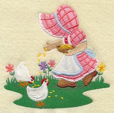 sunbonnet sue embroidery patterns | Machine Embroidery Designs at Embroidery Library! - Sunbonnet Sue ...