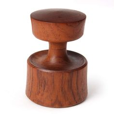 Jens Quistgaard; Teak and Steel Pepper Mill for Dansk, 1950s.