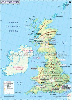 World map showing all the countries of the world with political this is the perfect map of britain containing all the necessary information of major roads gumiabroncs Image collections