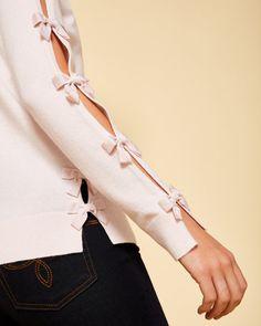 Bow detail cashmere-blend jumper - Baby Pink | Knitwear | Ted Baker UK