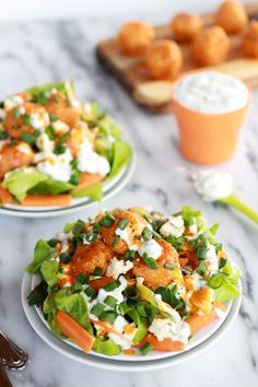 Spice up your salad with crispy buffalo quinoa bites