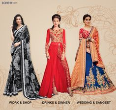Create new and stylish Looks of the Day with awesome, versatile fashion from saree.com