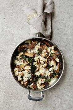 cheesy mushrooms and greens + book preview recipe bundle | Tara O'Brady