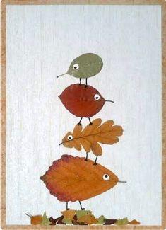 Autumn Crafts, Fall Crafts For Kids, Autumn Art, Nature Crafts, Diy For Kids, Autumn Leaves, Kids Crafts, Leaf Crafts, Tree Crafts
