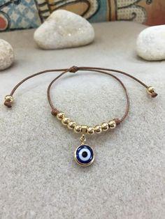 Items similar to Amulet bracelet evil eye on Etsy Gemstone Bracelets, Handmade Bracelets, Jewelry Bracelets, Jewelery, Aquamarine Bracelet, Evil Eye Jewelry, Evil Eye Bracelet, Beaded Anklets, Beaded Jewelry