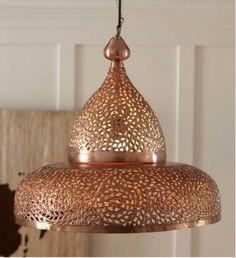 moroccan copper pendant