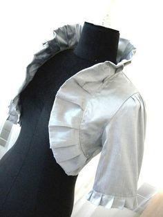 Sweet Dreams silver grey dupioni silk bridal bolero jacket wedding shrug wedding bolero shrug silver bolero on Etsy, $74.90