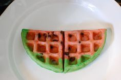 *Random Thoughts of a SUPERMOM!*: Watermelon Waffles
