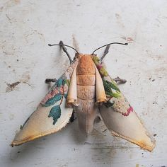 Soft sculpture moth by Mister Finch