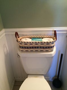 Basket Weaving PATTERN Toilet Tank Basket-Instant PDF download