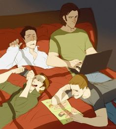 Destiel I ship, Sabriel is a sometimes, but either way this picture is kind of adorable. :3