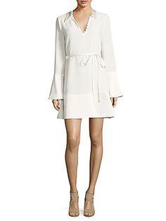 Cinq à Sept Rya Solid Bell-Sleeve Dress
