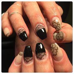 NAILEDIT #laceitup #lacenails #nailit #nailart #nailedit #nailporn #chicagonails #nude #blacklace #instanails #lovelynails #lovewhatido #didthat #diditonem #batavia #elgin #coffinnails #gelpolish #halfmoon #stcharles #geneva #nailtech #freshnails