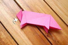 Como hacer un cerdo de papel en origami