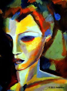 "Saatchi Online Artist Helena Wierzbicki; Painting, """"Living in darkness trapped in light"""" #art"