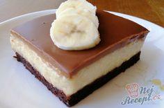 Banánové kostky s čokoládou | NejRecept.cz Naan, Cheesecake, Sweet, Food, Hampers, Author, Mudpie, Candy, Cheese Pies