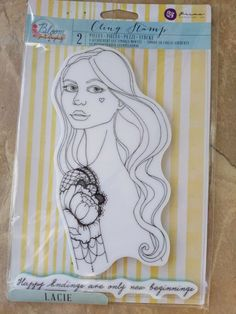 Prima Marketing Bloom Cling Rubber Stamps Jing 8-Inch by 6-Inch