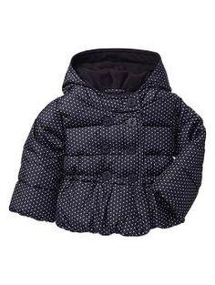 Warmest dot puffer My Little Girl, My Baby Girl, Baby Baby, Stylish Baby, Fashion Updates, Fashion Essentials, Winter Coat, Denim Jeans, Autumn Fashion
