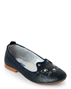 Osh Kosh B'gosh (Toddler Girls) Navy Tabby Ballet Flats