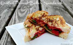 Grilled Peanut Butter Sandwich by Mariah M., Formula Mom #HEBMeals