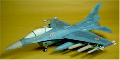 Mitsubishi F-2A Fighter Ver.3 Free Aircraft Paper Model Download - http://www.papercraftsquare.com/mitsubishi-f-2a-fighter-ver-3-free-aircraft-paper-model-download.html#150, #AircraftPaperModel, #F2, #F2A, #Fighter, #Mitsubishi, #MitsubishiF2