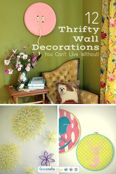 12 Thrifty Wall Decorations You Cant Live Without