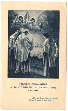 St. Theresa First Communion Image Vintage French by 12StarsVintage