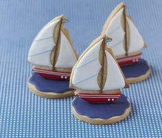 3-D Sailboat cookies