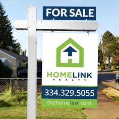 Create a simple and modern real estate sign for Homelink Realty by brother_2