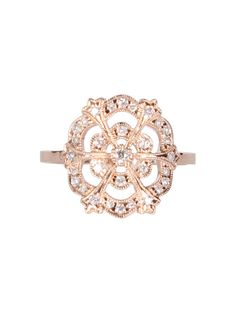 pink gold and white diamond lace ring from Stone ($2,128, montaignemarket.com)